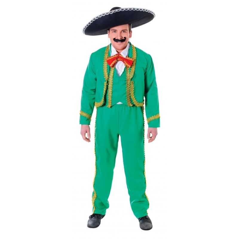 Tequila Pop /'N/' Dude w// Hat Holsters Adult Costume Standard Serape Amigo Funny