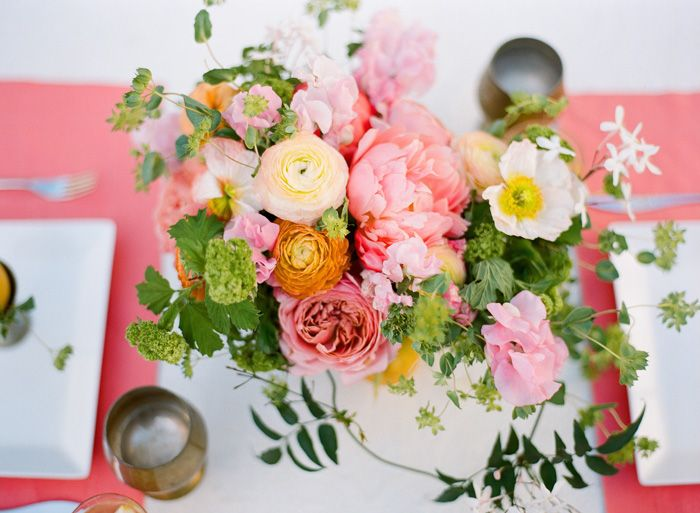 coral & pink spring tablescape //.Vendors: Flowers & Styling ...