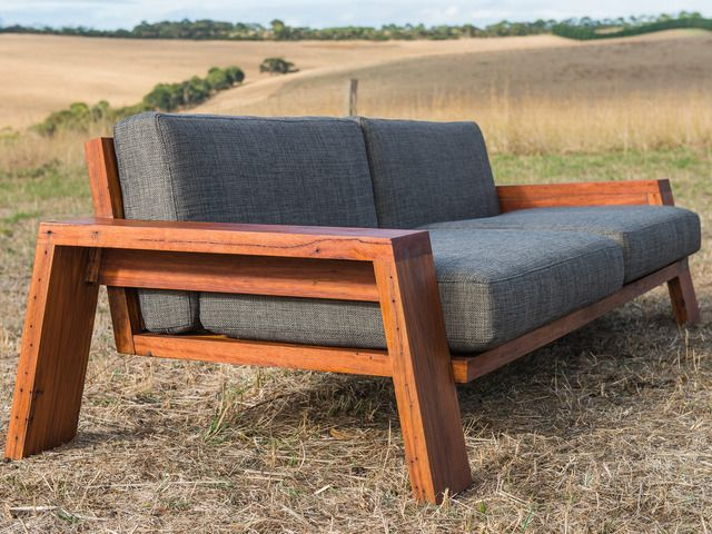 Queenscliff Exposed timber frame couch by Luke Collins - Timber
