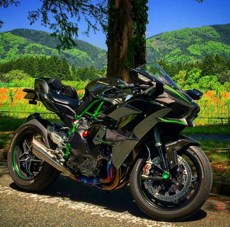 спортивный мотоцикл кавасаки фото материал, упав