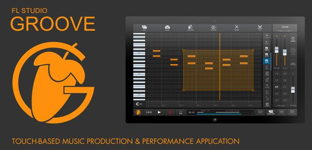 FL Studio Groove is a touch-based music production & performance