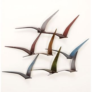 Flock Of Birds Wall Sculpture Flying Metal