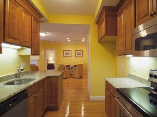 Amazing Yellow Color Kitchen Paint