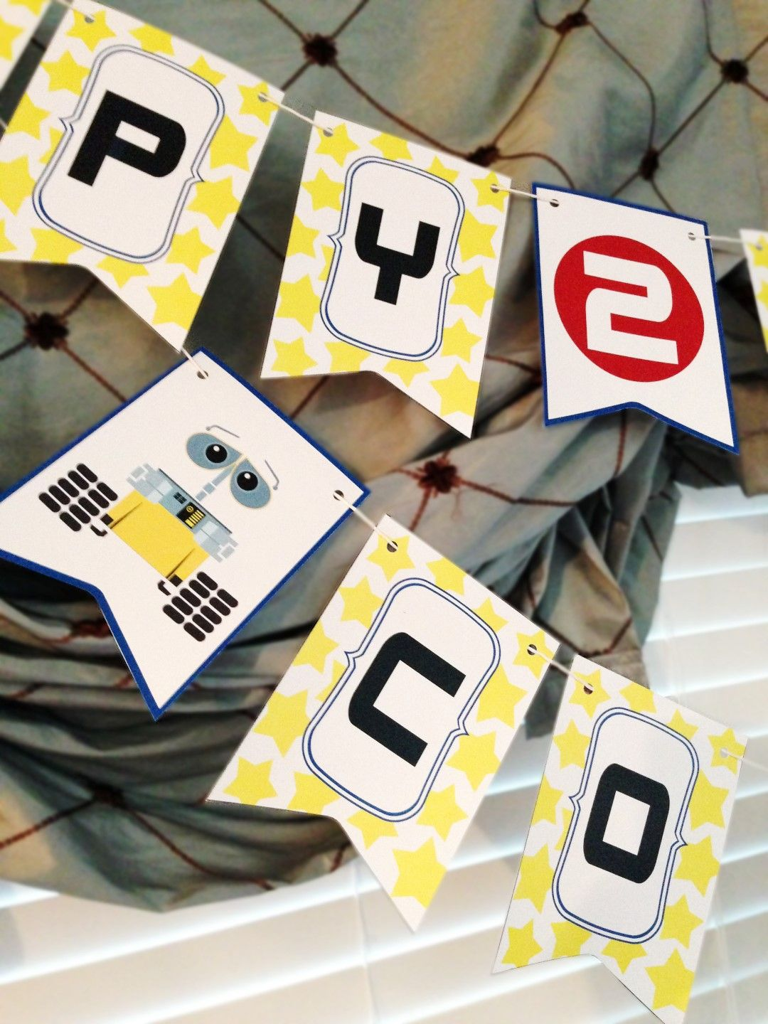 FREE Printable Wall E Birthday Banner Download Ourlittlevilla