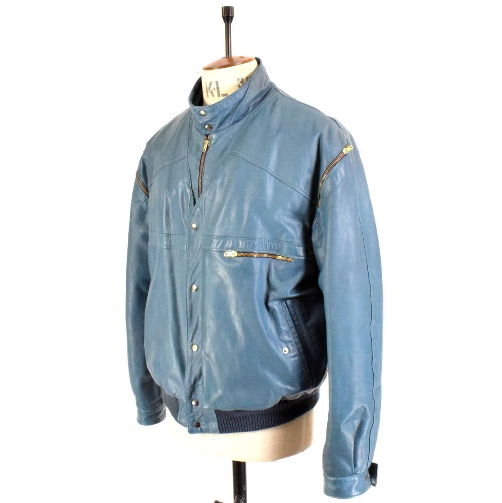 Men/'s genuine pig napa suede leather Zip up bomber Jacket ~~~