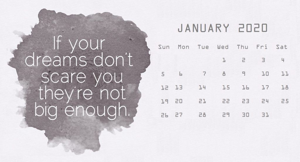 Best January 2020 Quotes Calendar in 2020 | Print calendar ...
