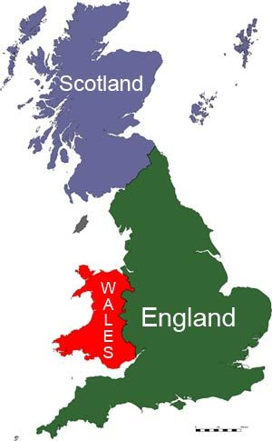 Map of great britain showing the 3 countries of england scotland map of great britain showing the 3 countries of england scotland and wales gumiabroncs Image collections