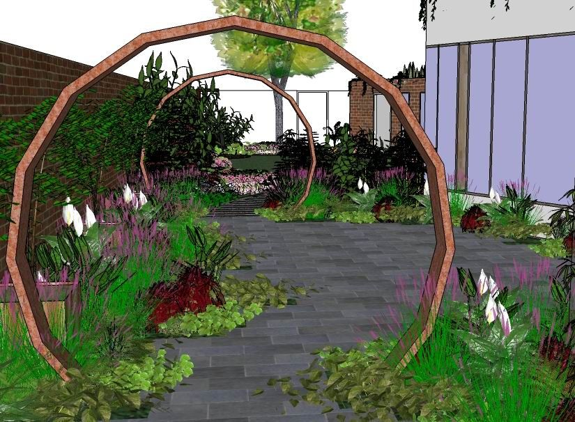 Google Garden Design Concept Design 3D Image Using Google Sketchup  Tim Austen Garden .