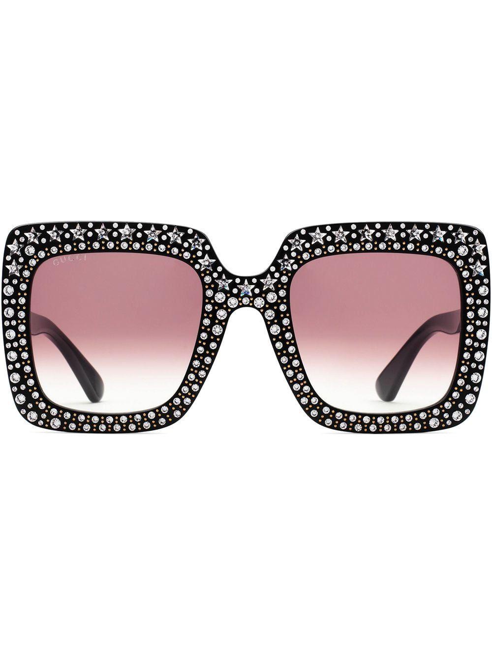 black bejeweled sunglasses