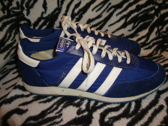 timeless design classic style new arrival Vintage 70's 80's ADIDAS blue & white Squire by Simplemiles ...