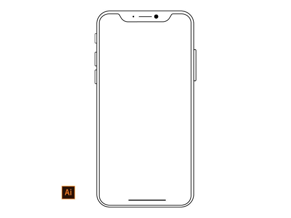 Iphone X Wireframe Design For Illustrator By Halfwave Studios On Dribbble In 2021 Wireframe Design Wireframe Design