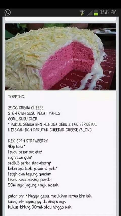 Cheese Cake Meleleh Cake Recipes Recipes No Bake Cake