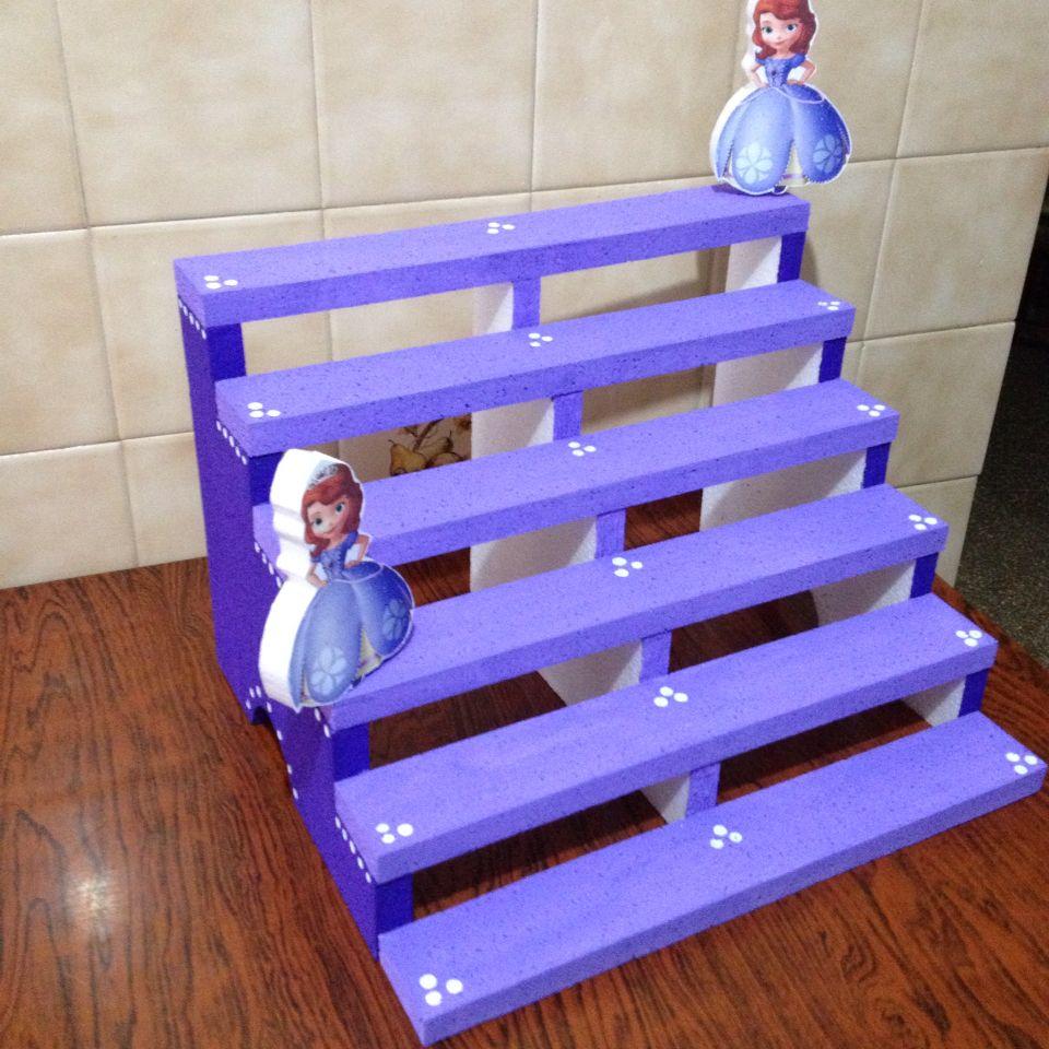 Base tipo escalera para colocar shots o cupcakes hazlo - Bases para cupcakes ...