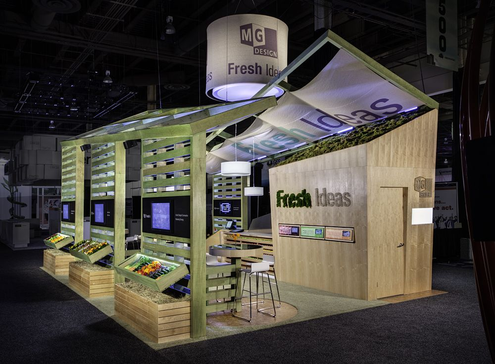 Exhibition Stand Eco : This is mg design s  fresh ideas exhibit from