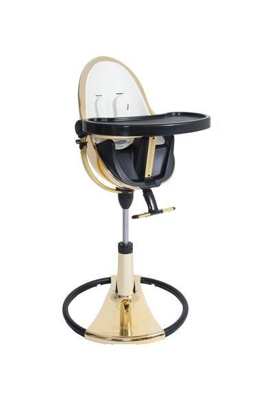 Fresco Chrome Special Edition   Bloom   Bloom Fresco Gold High Chair /  Coconut White.