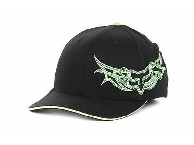 68db825196d FOX RAXING HARTER GRAFFITI DC FLEX FIT HAT CAP NEW RARE BLACK LIME s ...