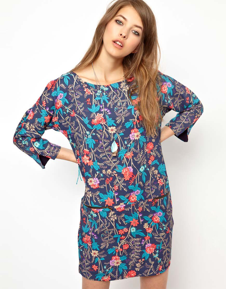 Floral Jeans Dress Shift Lizzy Pepe Asos At London EpqZF