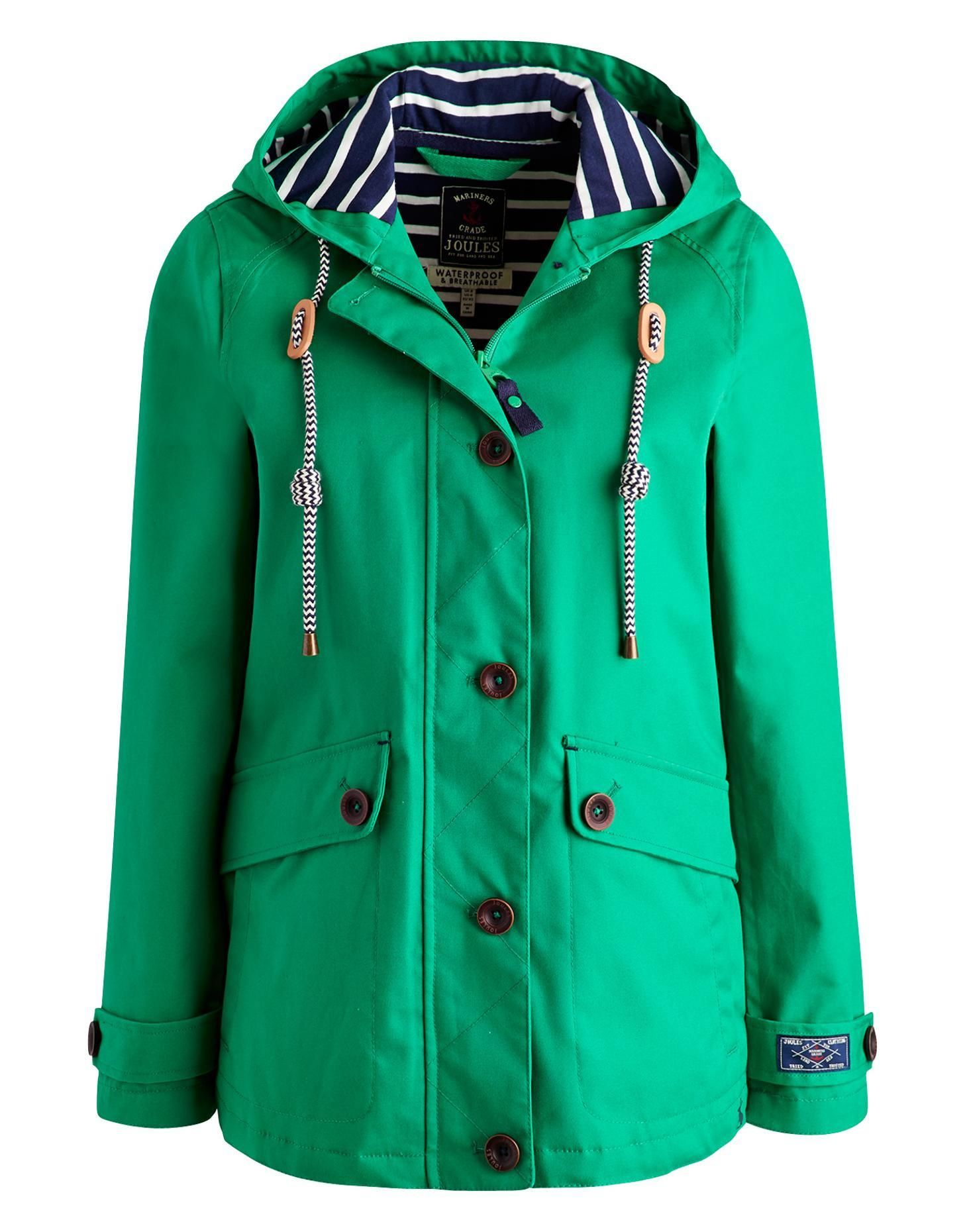 Joules Womens Waterproof Hooded Jacket, Bright Green. Part