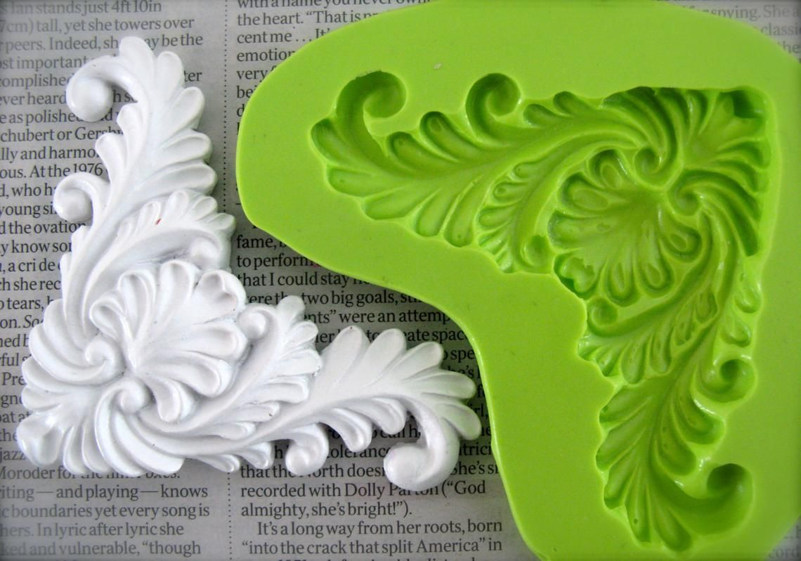 "Decor tile mold plaster concrete resin wax casting mould 6/"" x 6/"" x 3//4/"""