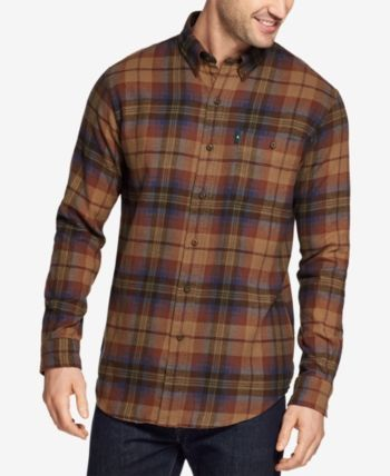 1c9275295d G.h. Bass & Co. Men's Fireside Flannel Shirt - Brown XL in 2019 ...