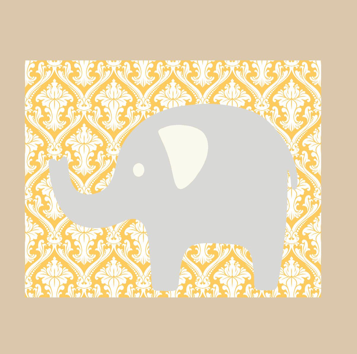 Kids Wall Decor- Modern Nursery Prints- Nursery Decor- Elephant ...