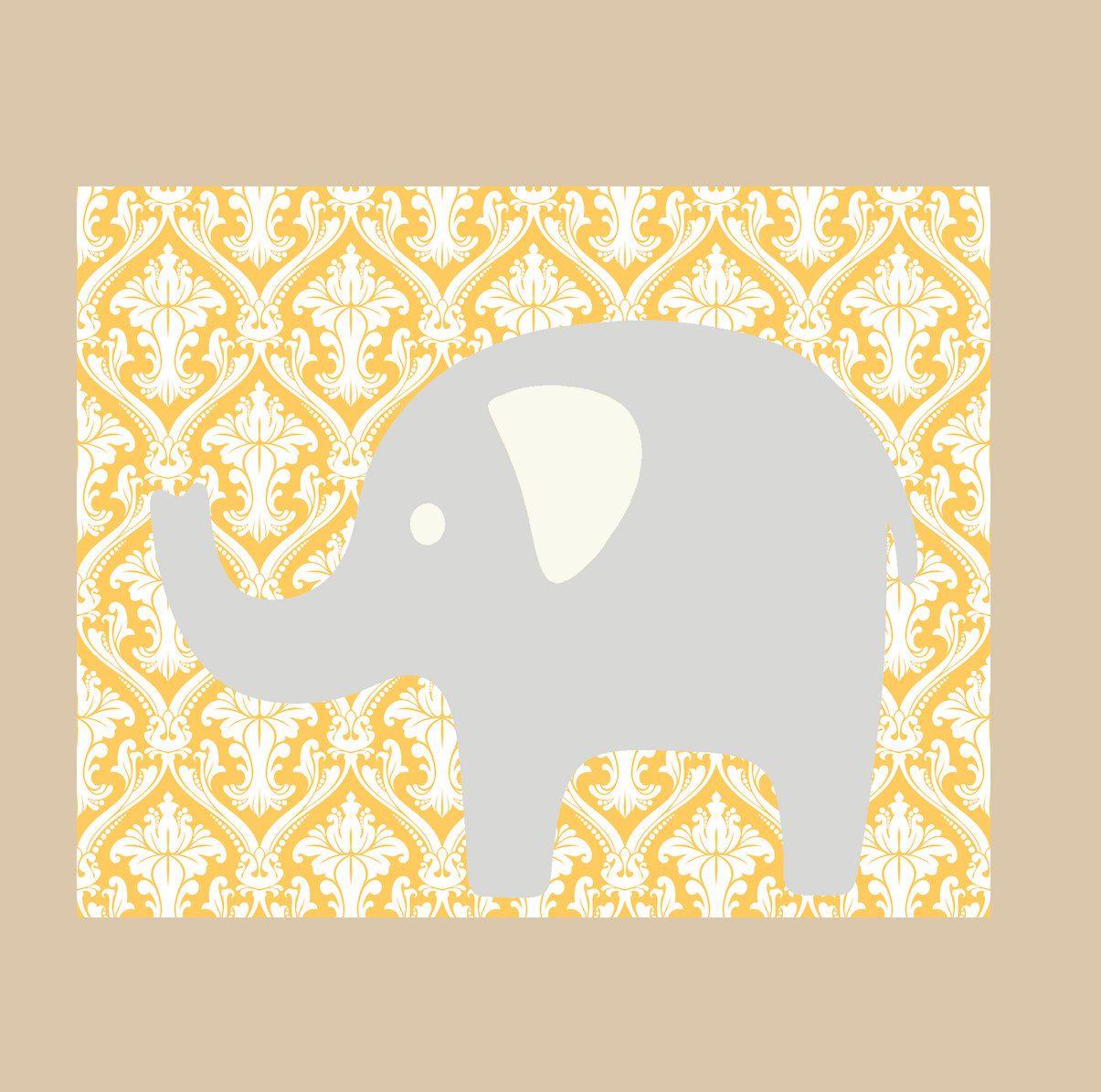 Kids Wall Decor- Modern Nursery Prints- Nursery Decor- Elephant ...