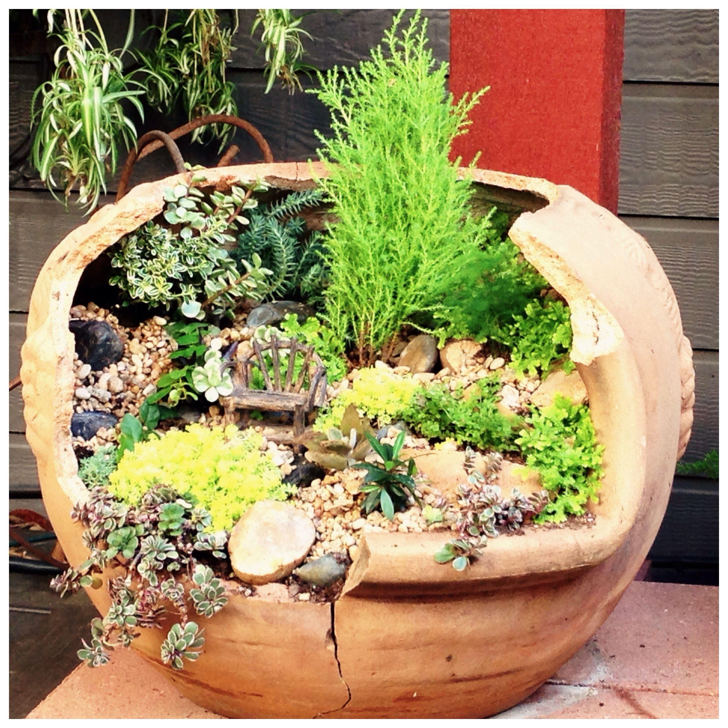 Incredible Broken Pot Ideas Recycle Your Garden: What To Do With A Broken Chiminea? Make A Fairy Garden