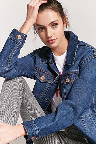 47e64dc9 Premium Washed Denim Jacket | Products | Dark denim jacket, Denim, Jeans