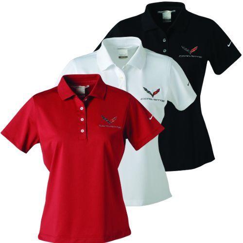 Womens C7 Corvette Nike Dri Fit Polo Shirt Nike Polo Shirts Nike Polo Polo Shirt