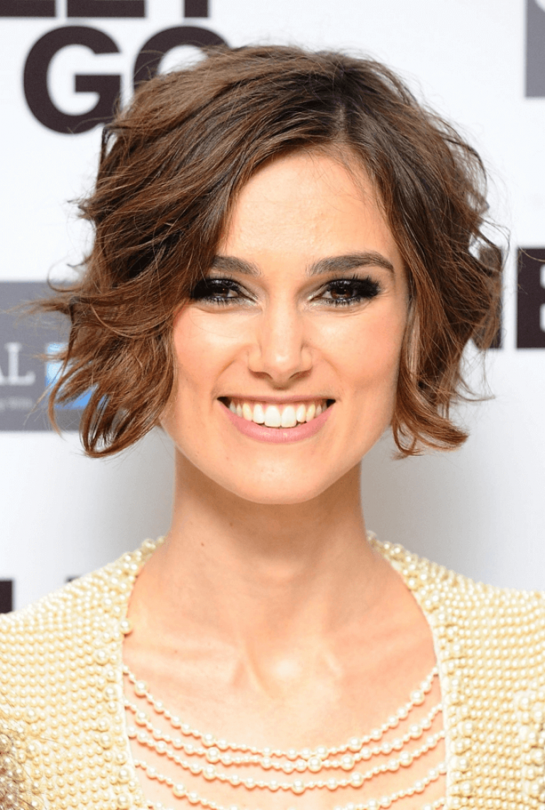 Bob frisur eckiges gesicht Keira Knightley  Cool hairstyles, Oval
