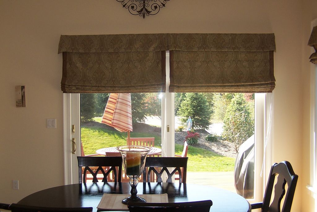 Flat Roman Shades For Sliding Doors Flat Roman Shades Color Is