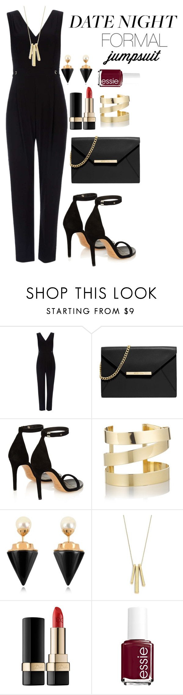 """""""Date night with jumpsuits"""" by rose-love-fashion ❤ liked on Polyvore featuring Wallis, MICHAEL Michael Kors, Isabel Marant, Étoile Isabel Marant, Vita Fede, Lauren Ralph Lauren, Dolce&Gabbana, Essie, DateNight and chic"""