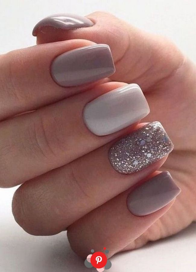 99 Beautiful Nail Art Design Ideas To Try In Summer 2019 In 2020 Glitter Gel Nails Glitter Gel Nail Designs Short Square Nails