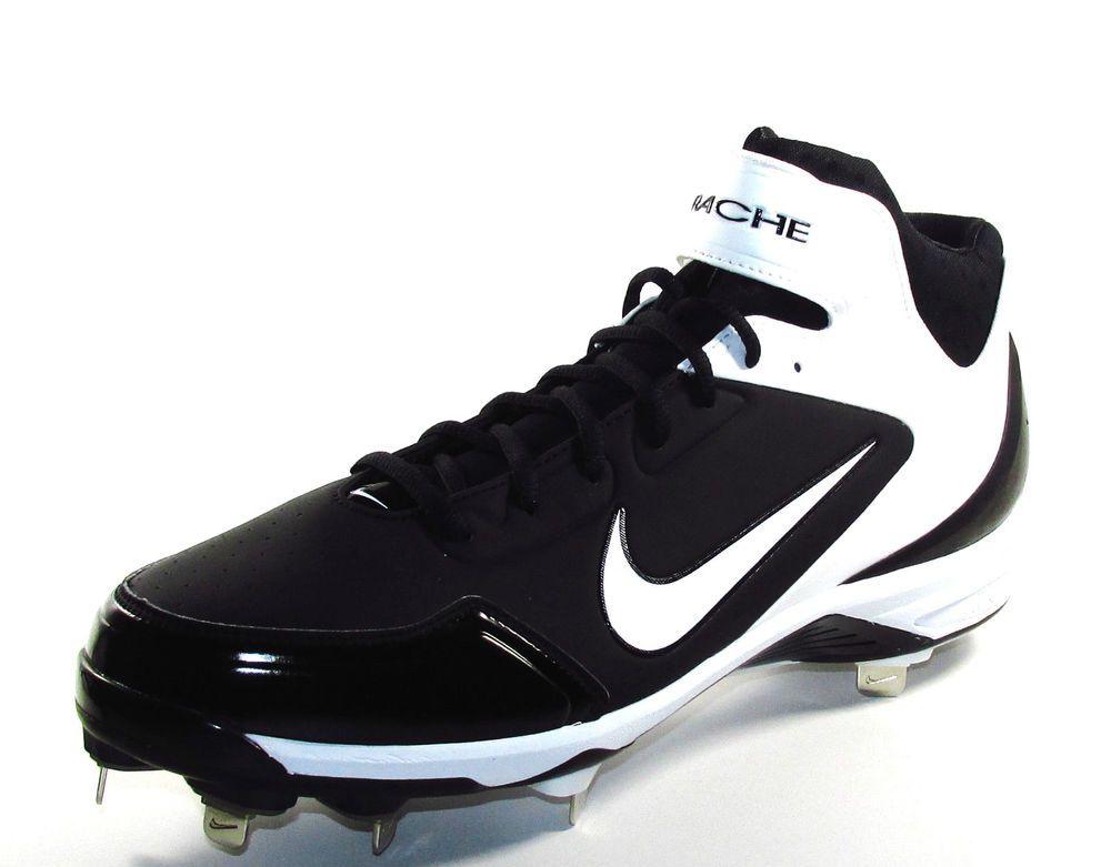 Can You Wear Baseball Cleats For Football Mens Nike Huarache 2k Fresh Metal Baseball Cleats Size 13 5 Black White Nike Metal Baseball Cleats Baseball Cleats Sneakers Nike
