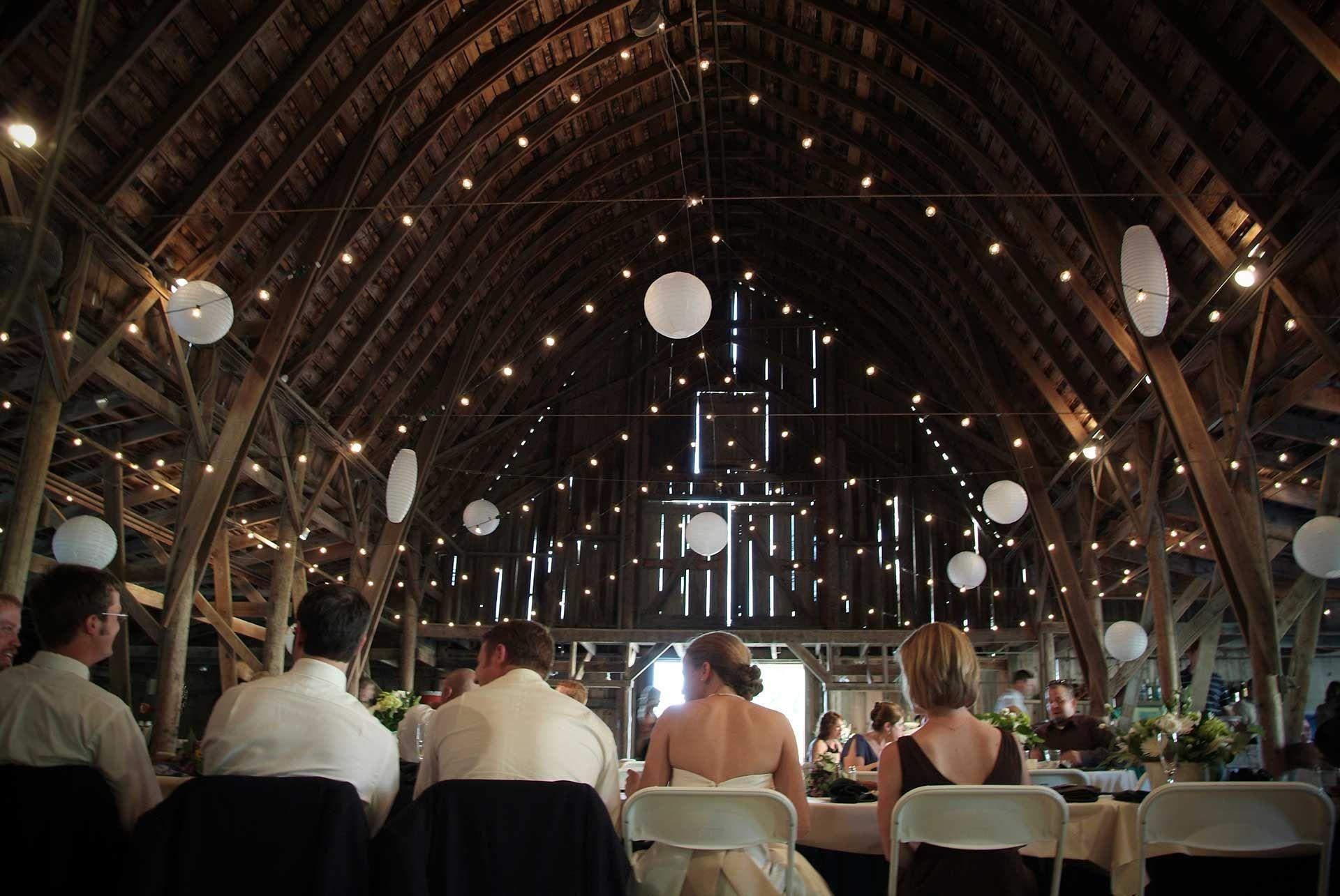 Historic Barns set for an outdoor wedding Weddings Gallery Lied Lodge and Arbor Day Farm Nebraska City NE venues nebraskaweddings