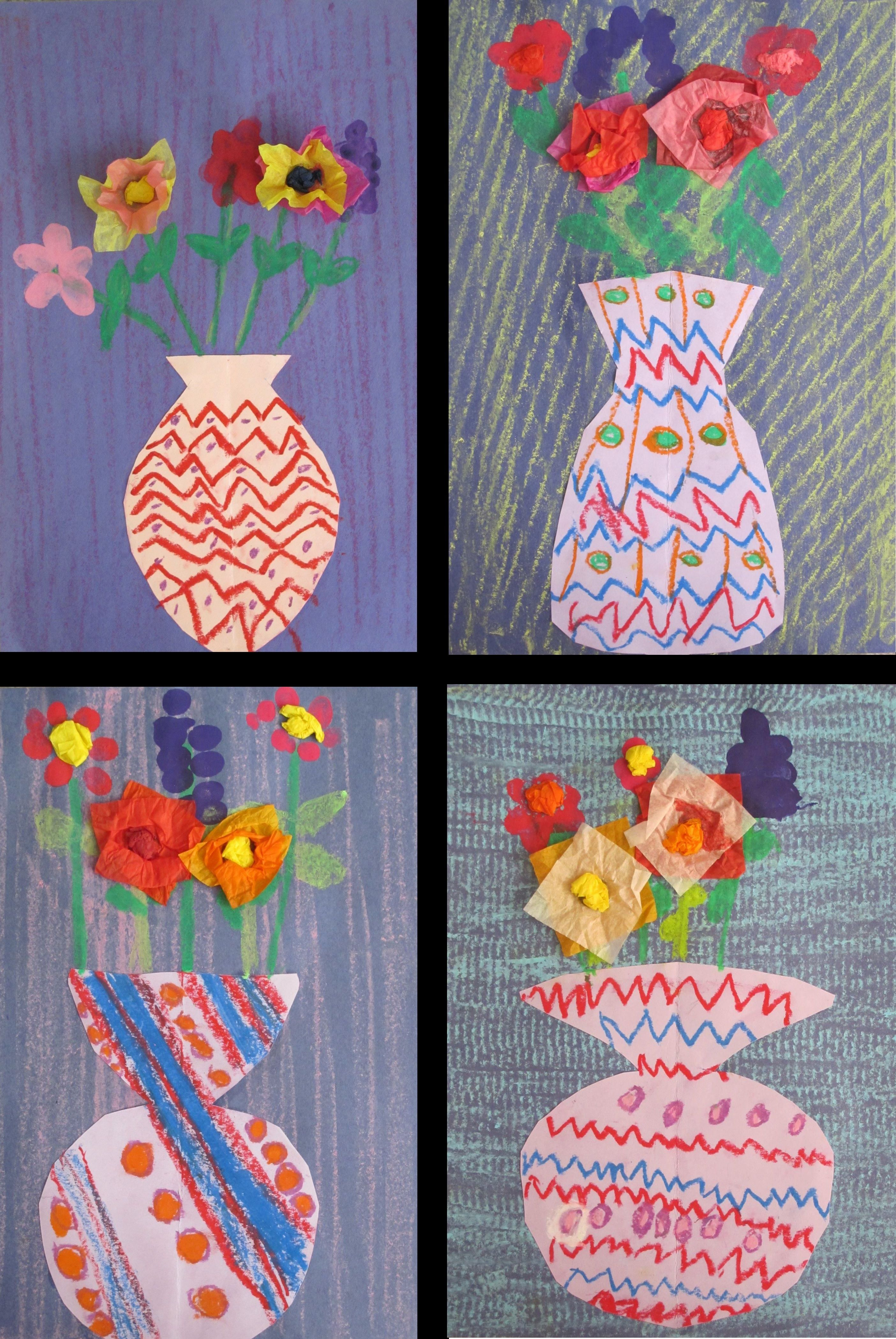 Kindergarten Vases Symmetry Pattern Texture With