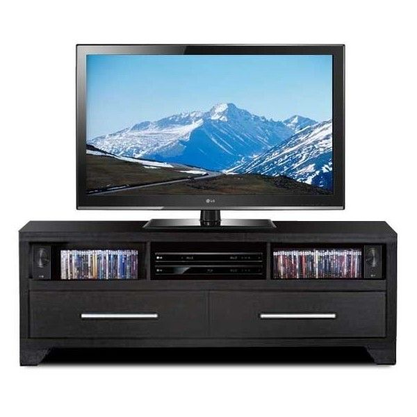 American Family Furniture Black Friday: Black TV Console ($199) Liked On Polyvore Featuring Home