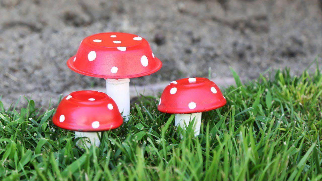 Mushroom Decor Diy Garden Art Diy Unique Garden Art