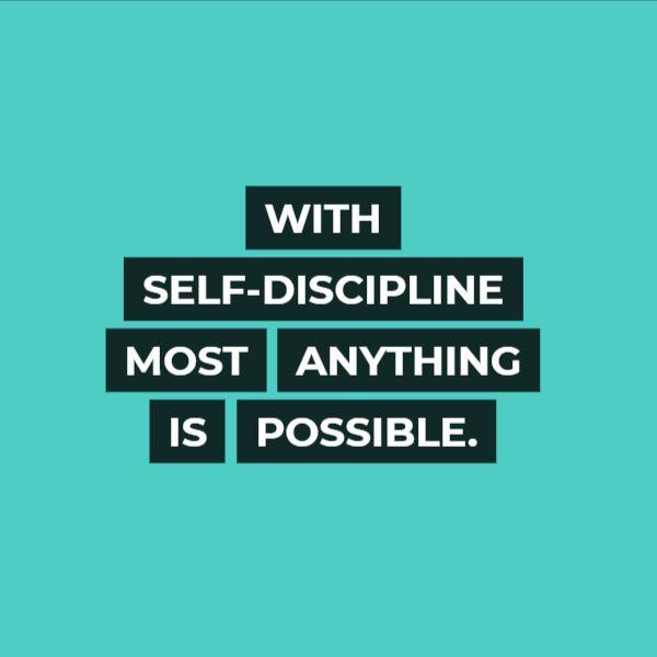 self discipline examples