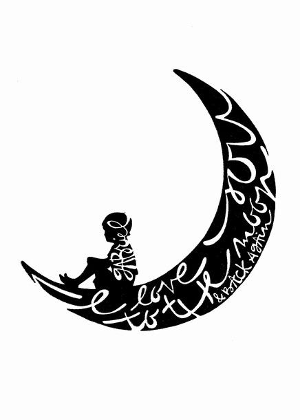 c329f9f4d9319 This custom silouette I love you to the moon and back design can be created  with a boy or girl silouette with embedded name.
