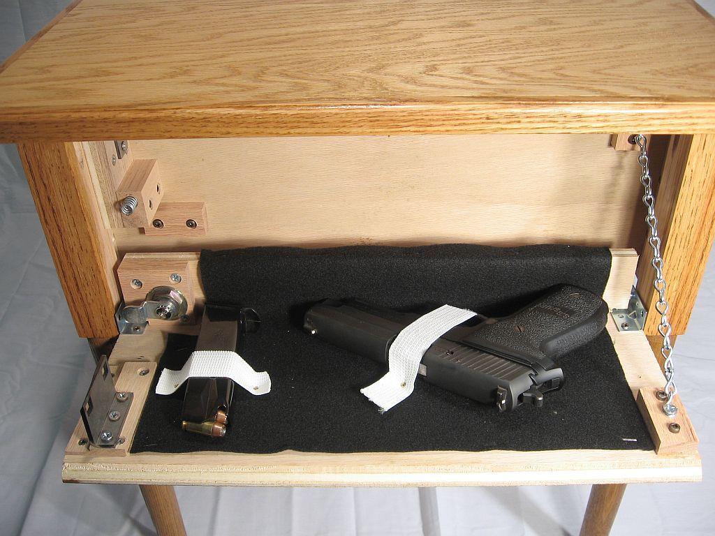 70+ Cool Hidden Gun Storage Furniture Ideas (65)