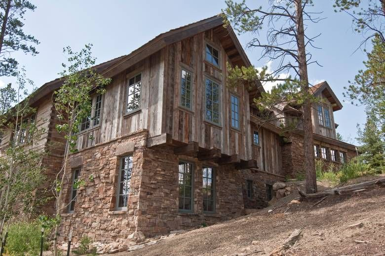 Barnwood And Stone Timber Supports Exterior Siding Barn Wood Exterior