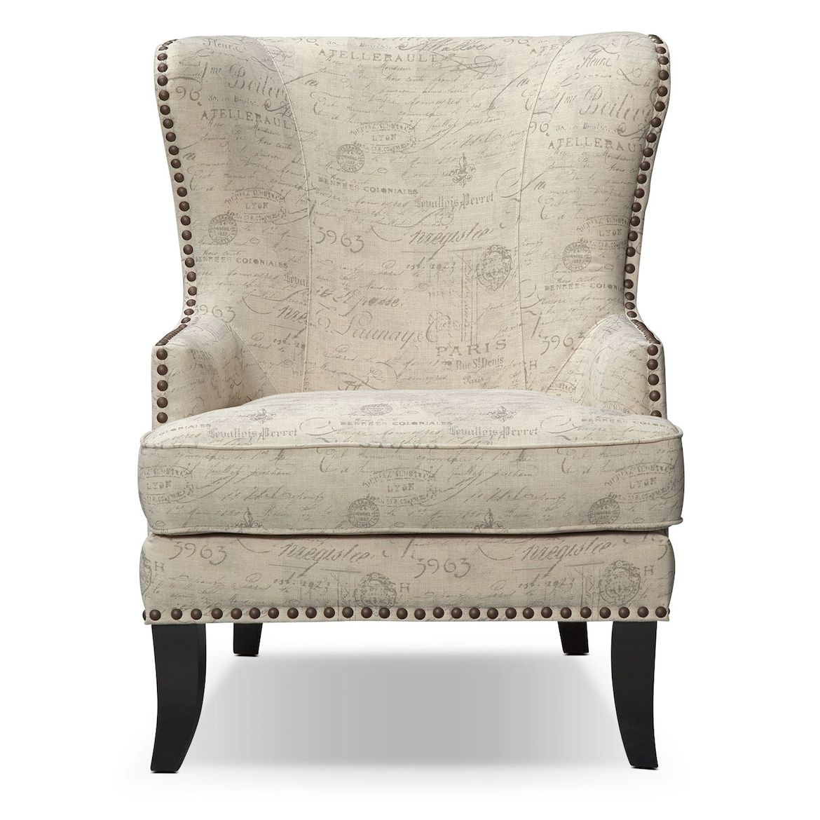 Best Marseille Accent Chair Cream And Black Value City 640 x 480