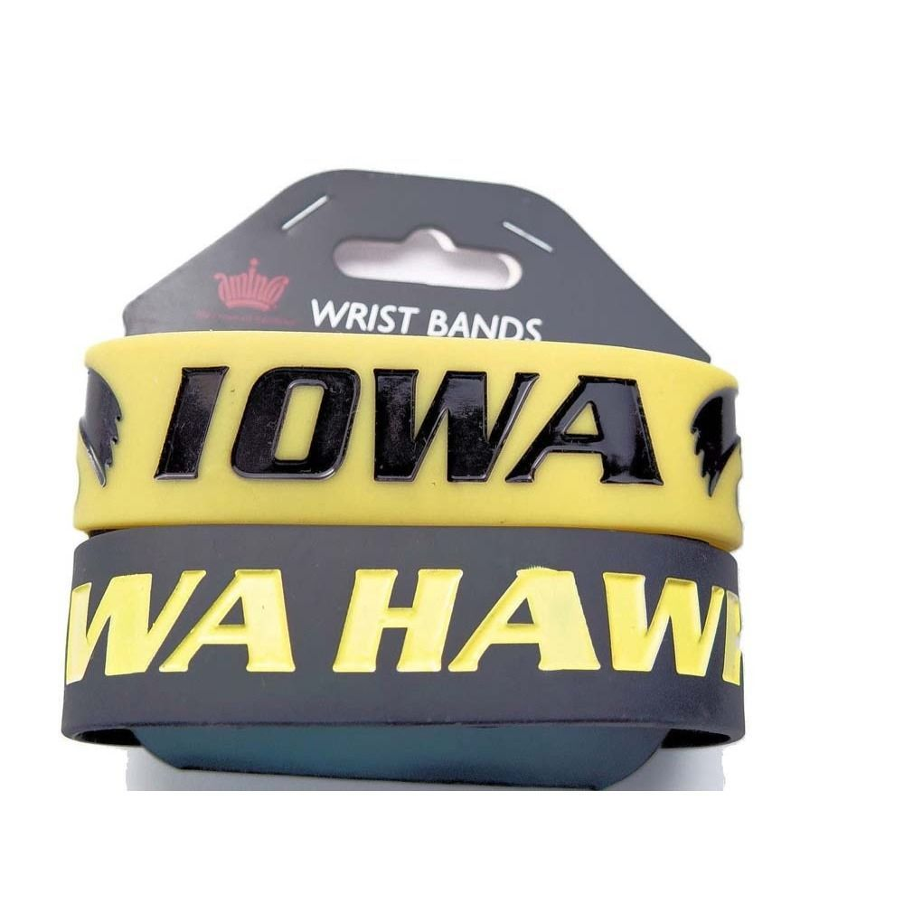 Aminco Iowa Hawkeyes Rubber Wrist Band