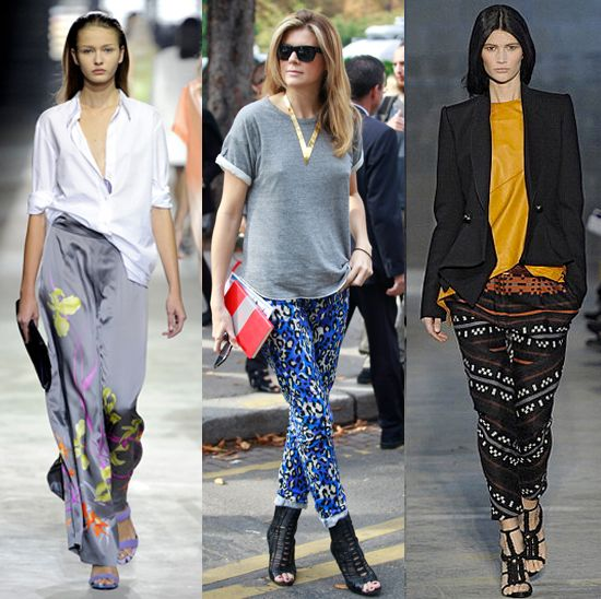 Fits of Fashion: Trend Alert: Silk Print Pants