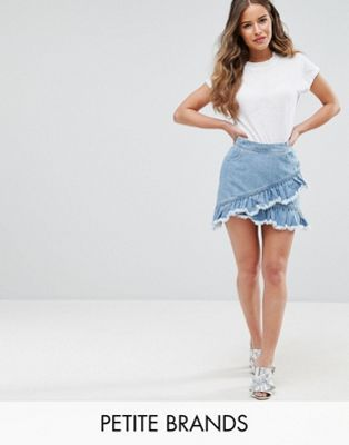 9256fd391a Miss Selfridge Petite Ruffle Denim Skirt | Ruffle My Feathers | Miss ...
