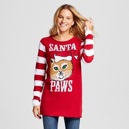 womens ugly christmas santa paws tunic ugly christmas sweater target size m perfect for ugly sweater parties - Target Christmas Sweater