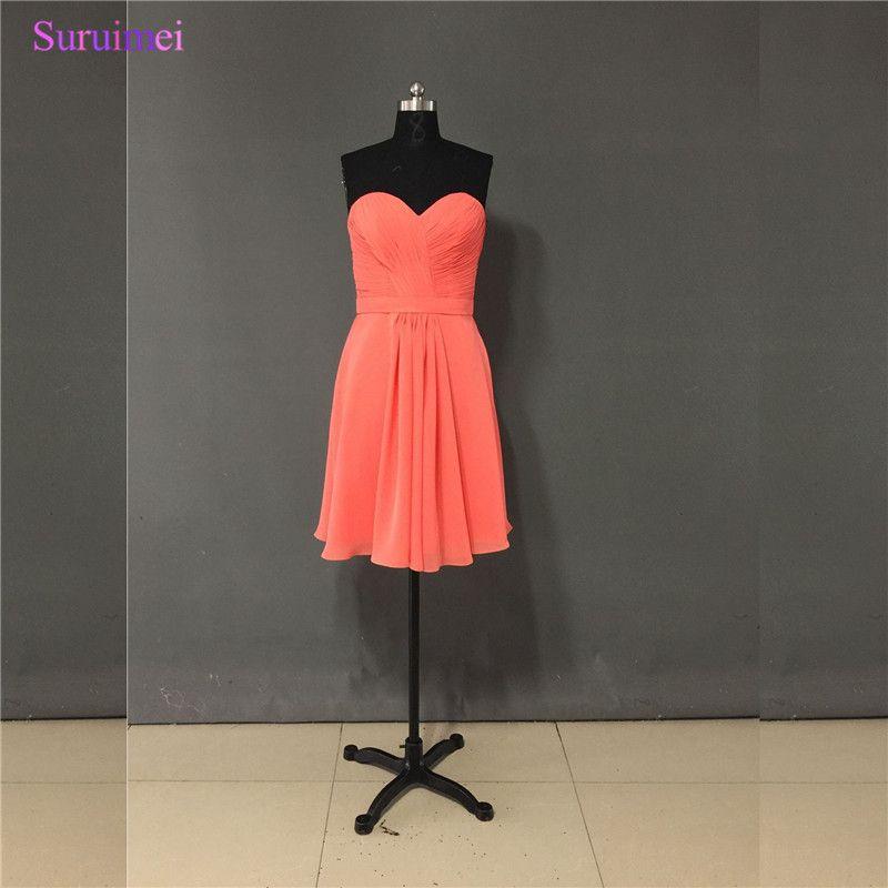 Orange above the Knee Length Dresses