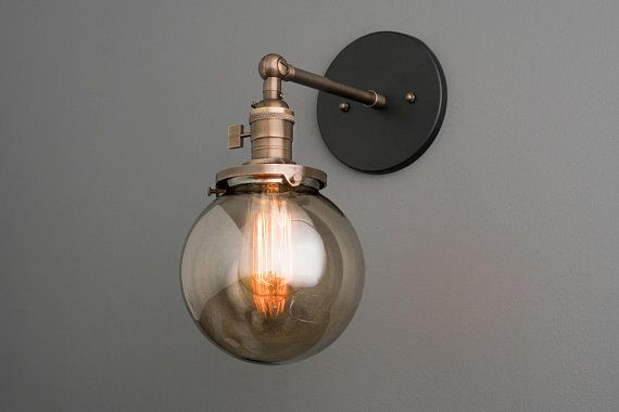 Sconce Light Smoked Globe