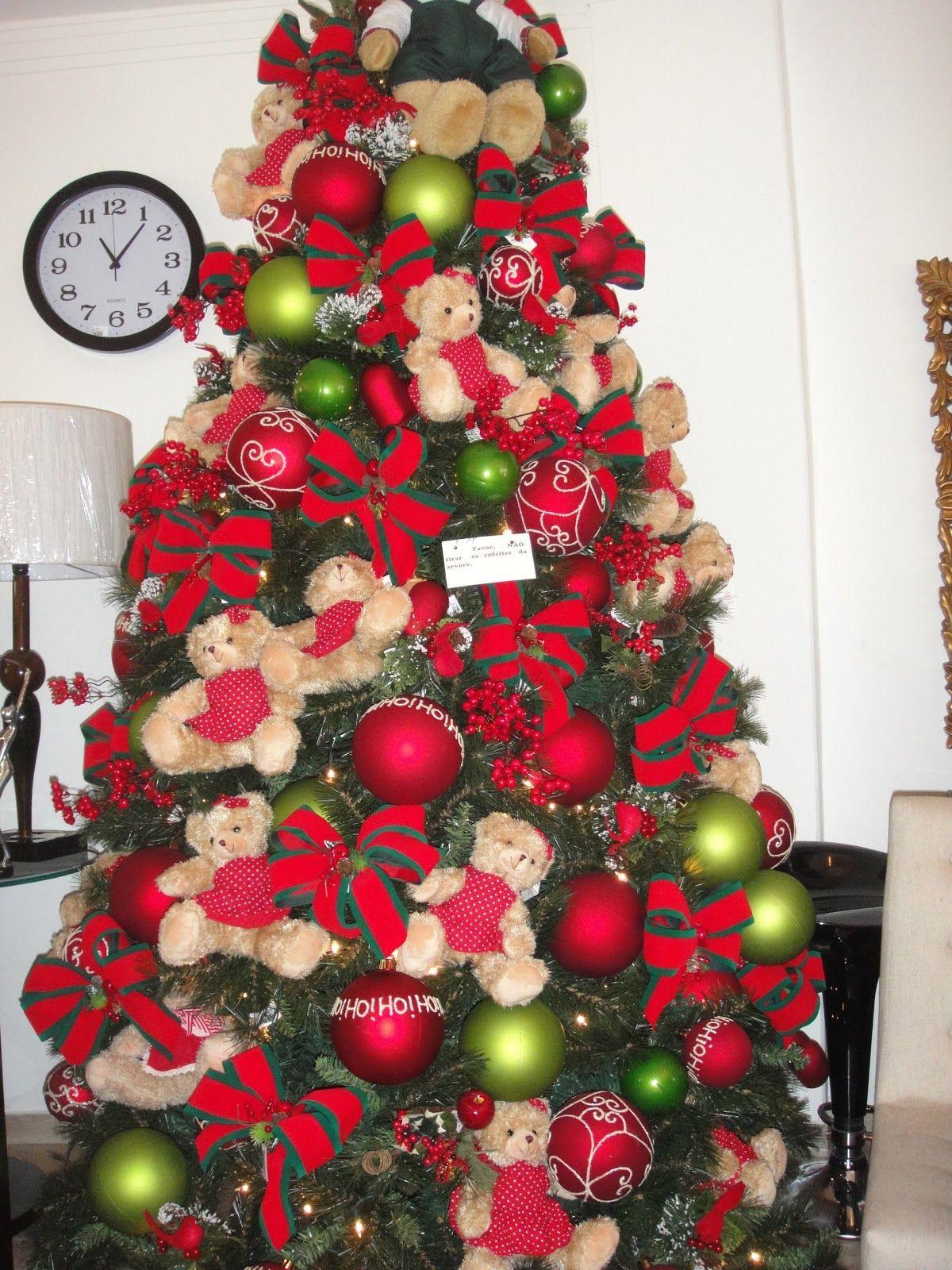 Arvore De Natal Decorada Com Lacos Pesquisa Google Com Imagens